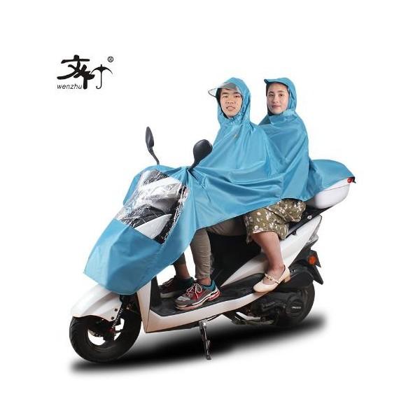 文竹厂家直销双人成人黑胶雨衣雨披大帽檐电动摩托车雨衣批发零售