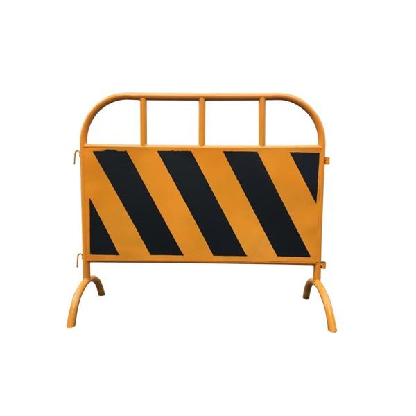 广东佛山粤盾交通市政护栏铁制弯角铁马安全围栏黄黑铁马隔离栏