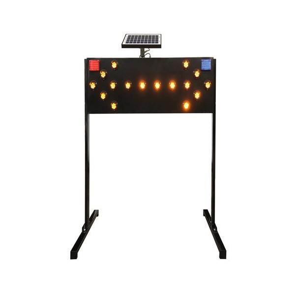 广东佛山粤盾交通铁质太阳能施工灯LED导向箭头灯诱导灯警示灯