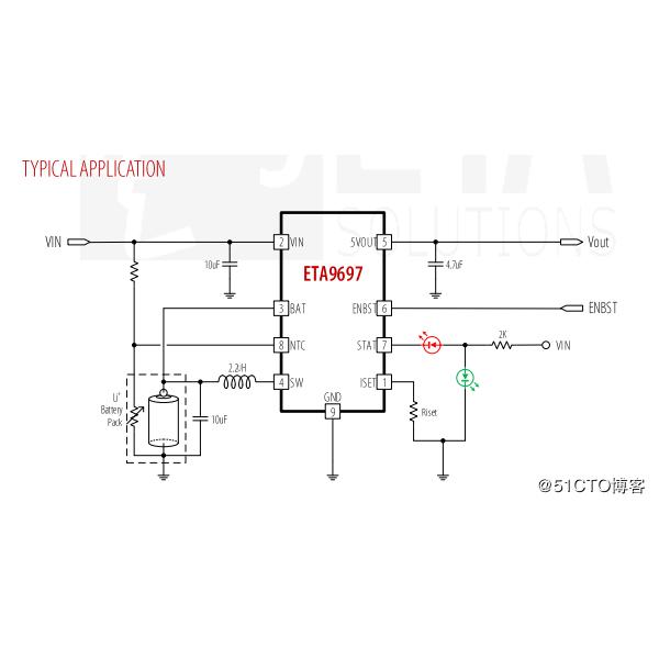 ETA9697蓝牙耳机TWS充电盒5V常开超低功耗1ua