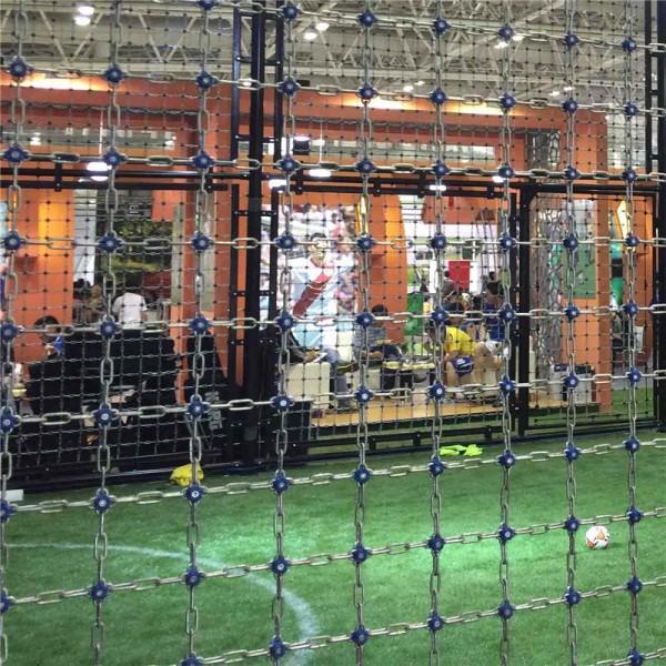 室内足球运动场防护铁链围网价格