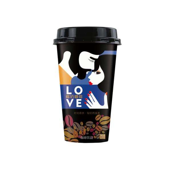 广西便利店杯装椰奶咖啡320ml20杯装代理加盟