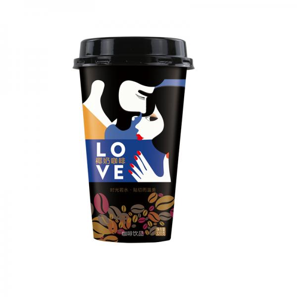 商超杯装椰奶咖啡320ml20杯装广西招经销商
