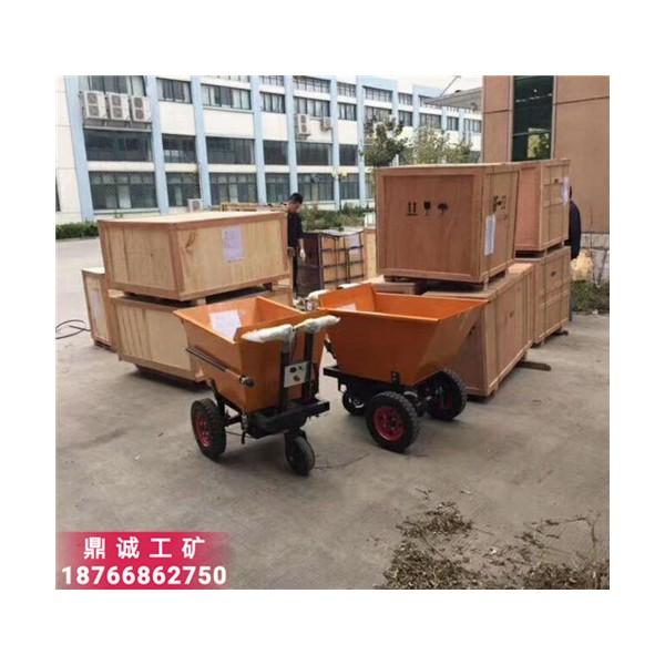 可人骑电动三轮翻斗车 混凝土沙石转运车 建筑工地小型运输车