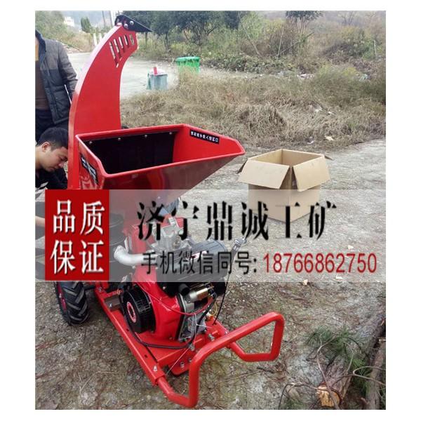 江西宜春卧式柴油电启动苗木粉碎机 多功能电动汽油园林碎枝机
