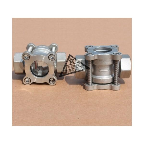 不锈钢螺纹带指针视镜,刻度显示视镜,带刻度视镜