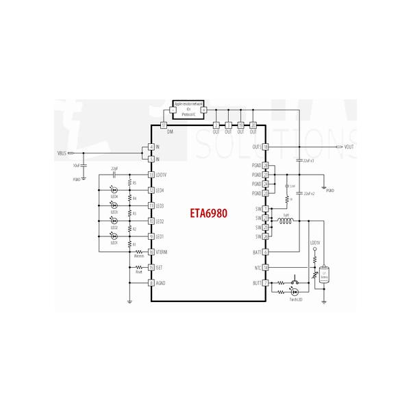 5V-2.4A单芯片三合一移动电源充放电芯片,自动负载启动