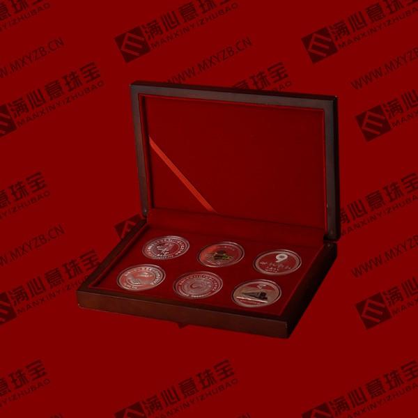 纯金纯银纪念币定制 金银工艺品定制  学校庆典纪念章定制