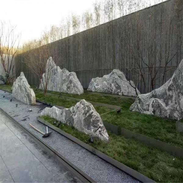天然雪浪石切片枯山水造景观石 广安小石头泰山石切片石