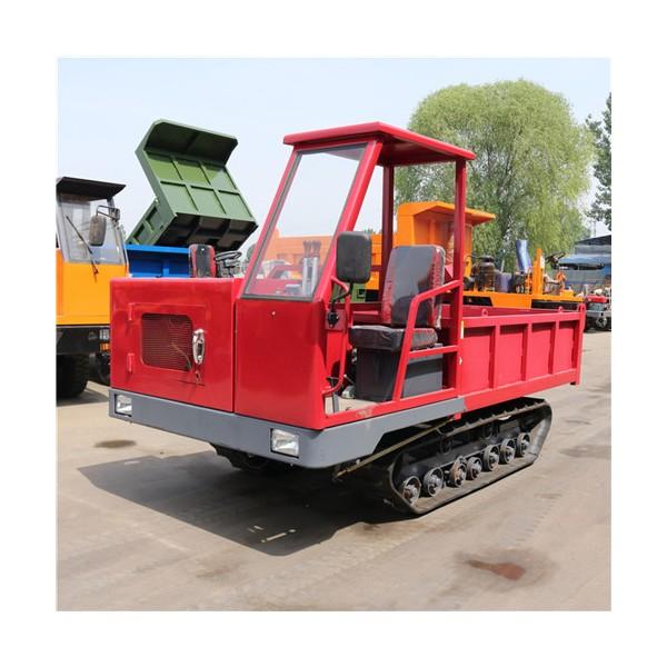 32马力橡胶履带运输车 全地形运输石头履带翻斗车