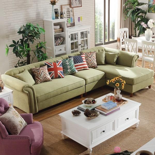 达仕奇布艺沙发可拆洗小户型转角沙发客厅休闲沙发