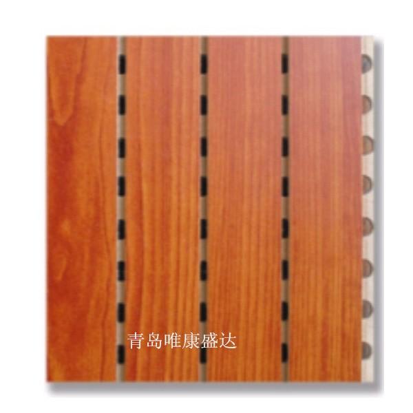 青岛宾馆墙面装饰孔木吸音板视听室木质墙面隔声板