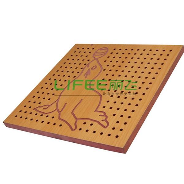 孔木吸音板—防火吸音板价格丨生态木板广州厂家【丽飞声学】直供