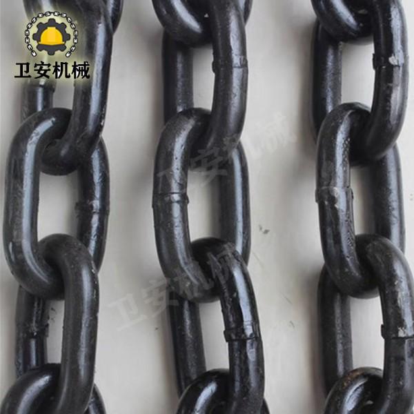 卫安专业生产矿用热处理高强度链条 码头传动链条 不锈钢链条