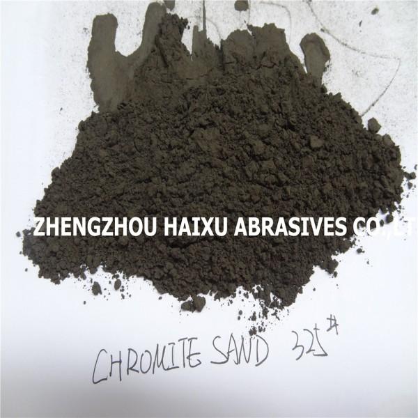 325目400目铬铁矿砂粉用于生产琉璃瓶着色剂