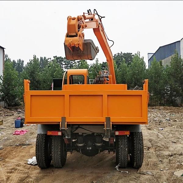 拉土拉河沙随车挖掘机 挖沙拉沙车 长期供应四不像随车挖