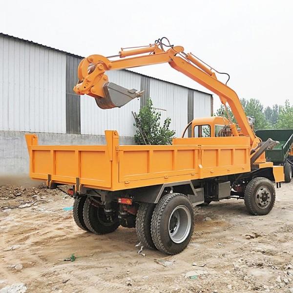 供应多功能带车斗的 又能挖又能装运的汽车自制四不像随车挖厂家