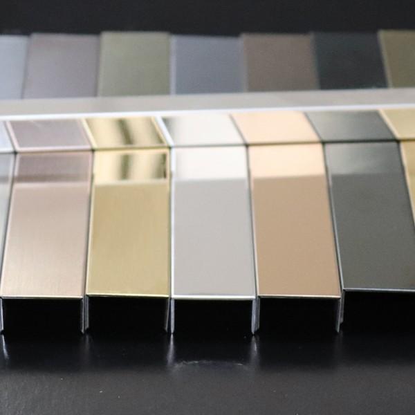 定制不锈钢u型槽装饰线条包边条收边吊顶背景墙钛金属条