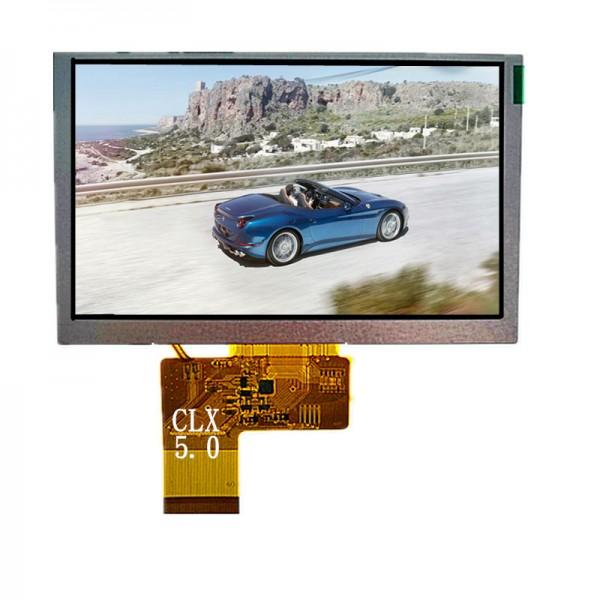 5寸TFT彩屏TJDM050高清高亮度800*480分辨率