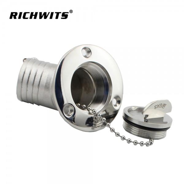 RICHWITS不锈钢316 45度小翻盖游艇油舱盖水舱盖