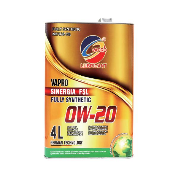 vapro威保全新金属罐系列0W-20全合成油汽车机油