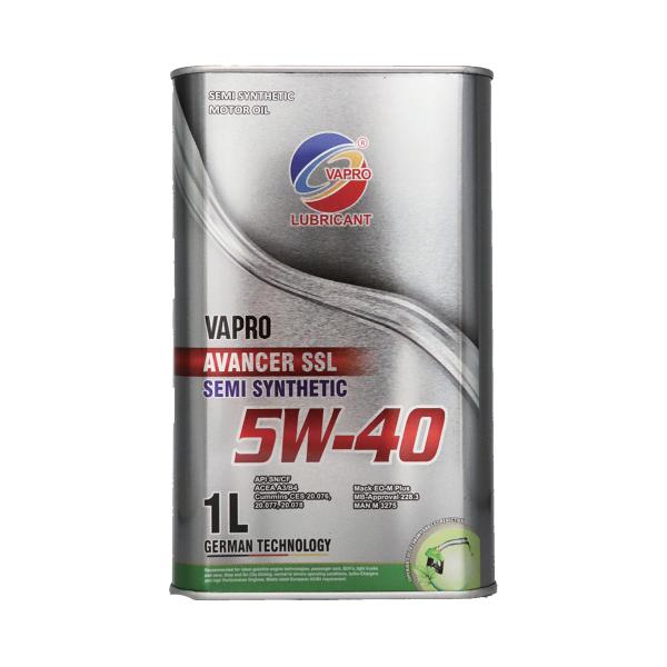 vapro威保金属罐系列5W-40半合成油汽车机油