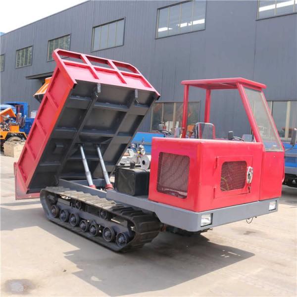小型农用履带运输车全地形橡胶履带四不像自卸式拉土运输车
