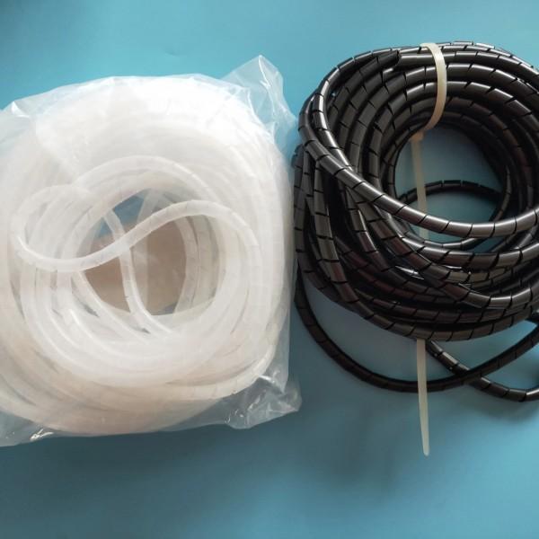 黑、白色透明缠绕管12MM 电缆电线卷式保护带