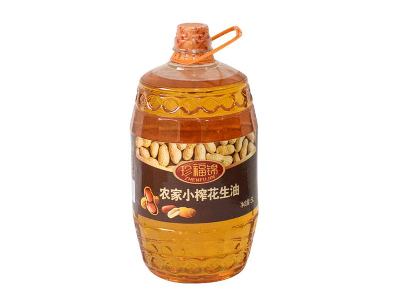 珍福锦花生油 压榨一级5L花生油 山