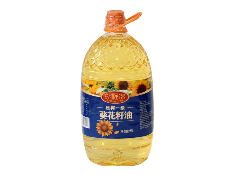 珍福锦葵花籽油 一级葵花籽油 山东
