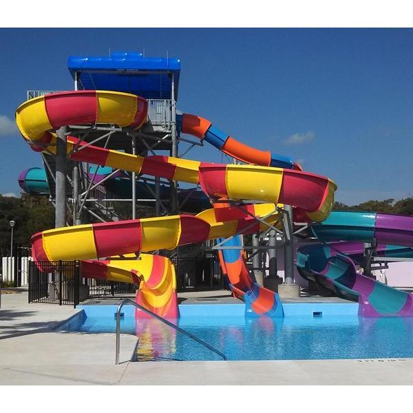 敞开螺旋滑梯  大型水上游乐设备,为您定制服务