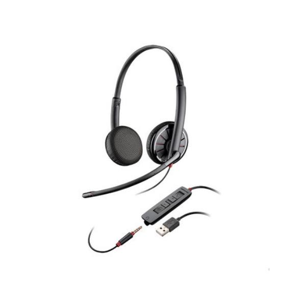 Plantronics/缤特力C325双耳电脑降噪耳机耳麦