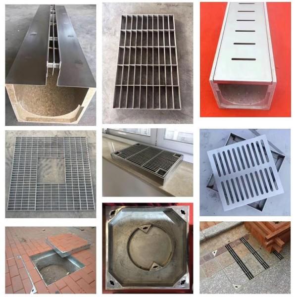 重庆圆形井盖下沉式方形雨水窨井盖304不锈钢隐形井盖