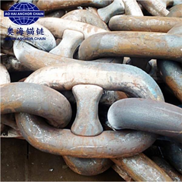 87mm船用锚链生产厂家现货供应-江苏奥海锚链