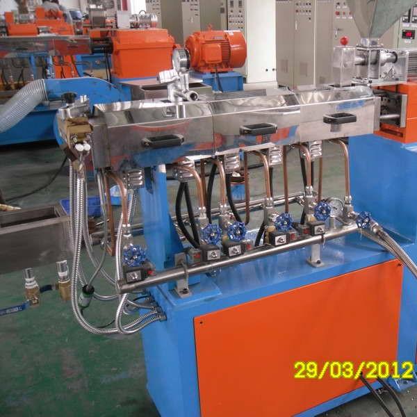 双螺杆造粒机,TPR弹性体造粒机(图示)