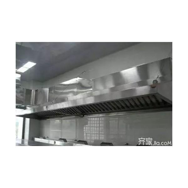 承接湖南长沙酒店厨房设备油烟罩排烟管道制作安装厨具烟囱