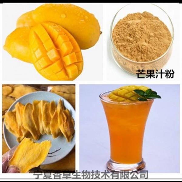 芒果鲜汁厂家直销 供应芒果浓缩汁粉100目 芒果粉现货供应