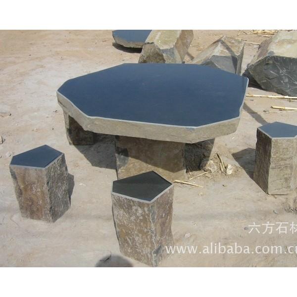 中国黑、蒙古黑、玄武岩、六方石、石桌石椅