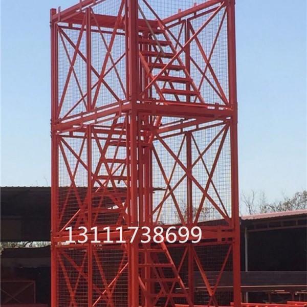 可调节底座安全爬梯 桥梁维修梯笼 工地施工组装安全爬梯