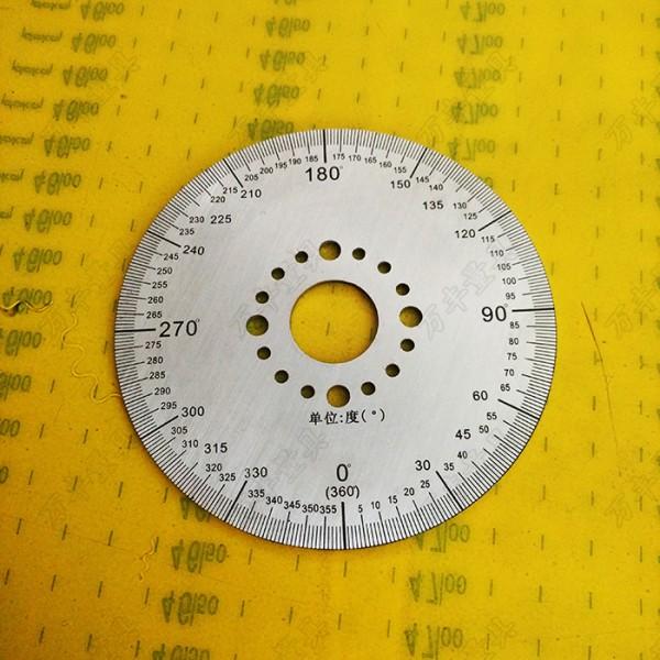 刻度盘不锈钢尺铜镇尺测量尺水位尺分度盘角度盘定制专用