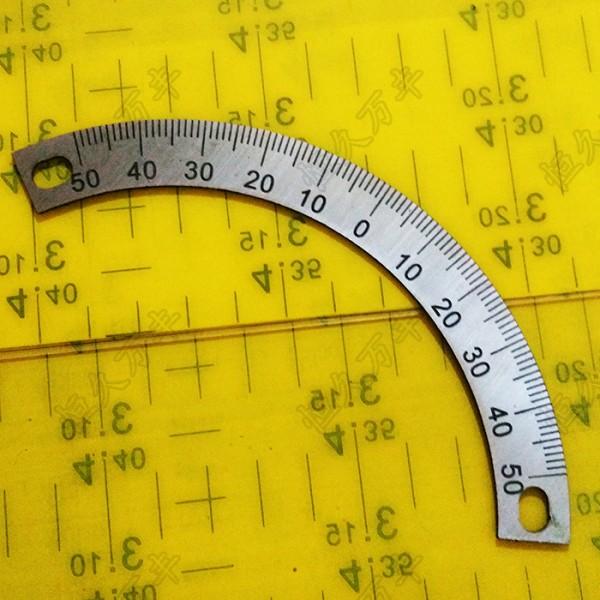 中分刻度盘 半圆刻度盘 机械配件 100度刻度盘 钢制圆盘