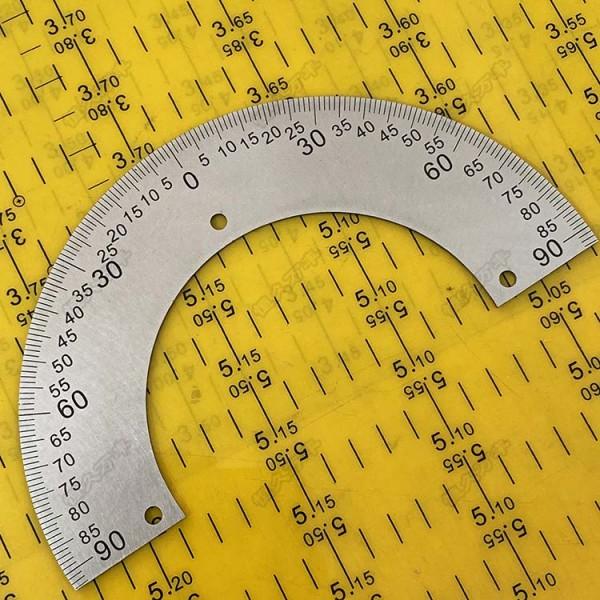 中分半圆刻度盘 不锈钢半圆 量角器 实验器材 工业配件