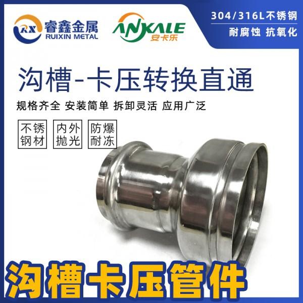 沟槽式异径对接沟槽式管管件沟槽大小头液体管道专用过渡管件