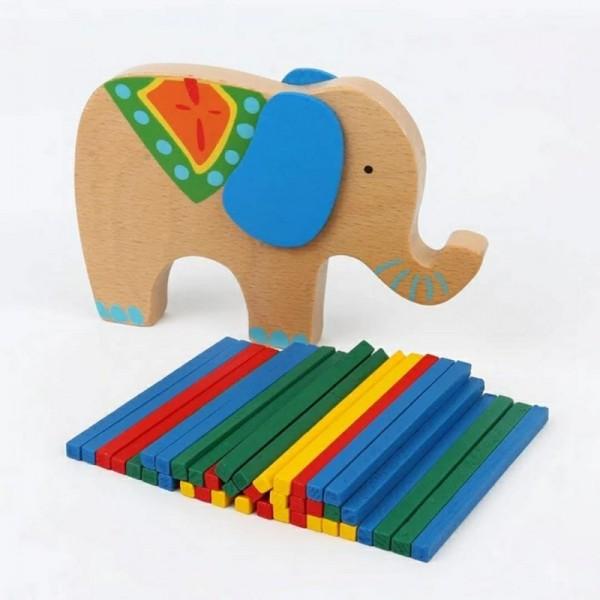 木质彩色骆驼大象叠叠高玩具