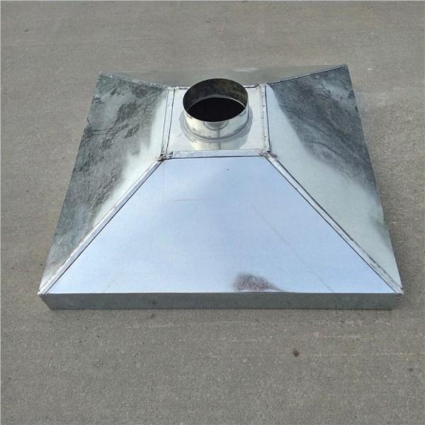 源头螺旋风管批地厂家生产镀锌材质烟罩 弯头