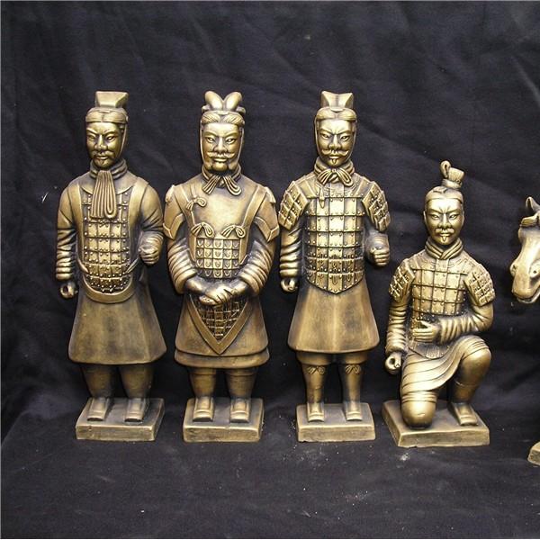 陕西特色兵马俑销售 仿古兵马俑 西安陶土兵马俑摆件销售
