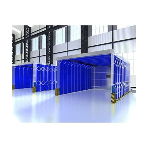 伸缩移动式喷漆房 环保喷漆废气处理成套设备