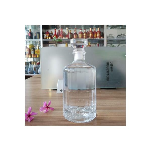 透明玻璃酒瓶个性奇异白酒瓶500ml果酒饮料瓶洋酒瓶1斤装瓶