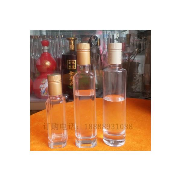 方形瓶橄榄油玻璃瓶250ml装果醋瓶 半斤装香油瓶玻璃酒瓶