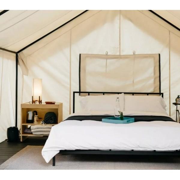 河北景区休闲度假景区野奢帐篷,韩国奢华撑杆野营住宿酒店帐篷